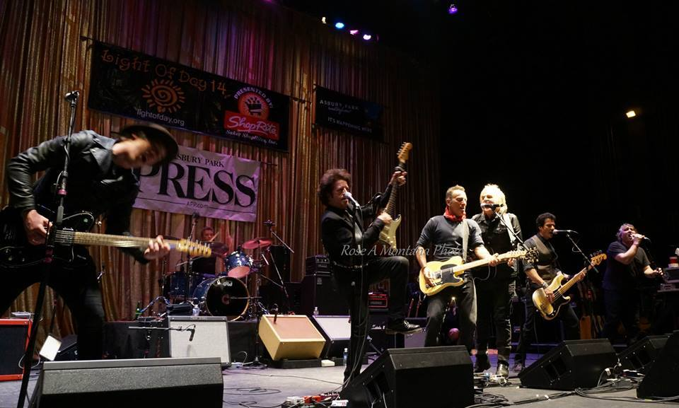 Bruce Springsteen, Mike Peters, and others at Light of Day 2014.  Paramount Theater, Asbury Park, NJ